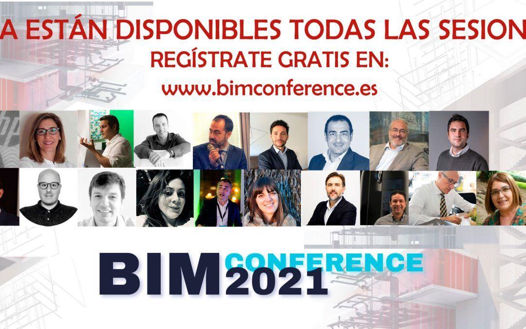 Ya puedes volver a disfrutar de todas las sesiones de la BIM Conference 2021