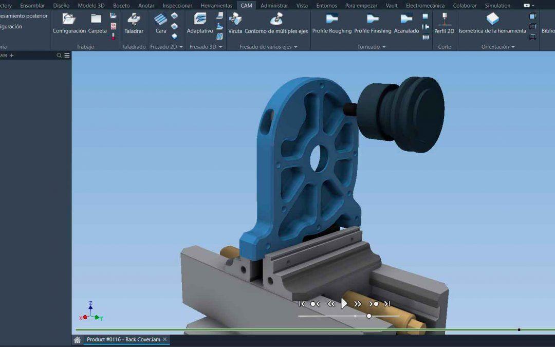 Demo Inventor CAM. ¿Conoces los softwares de la Collection de Diseño Industrial?