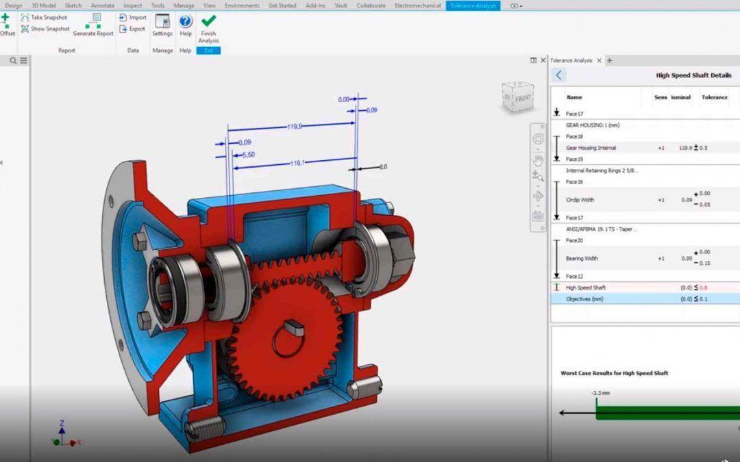 Demo Inventor Tolerance Analysis. ¿Conoces los softwares de la Collection de Diseño Industrial?