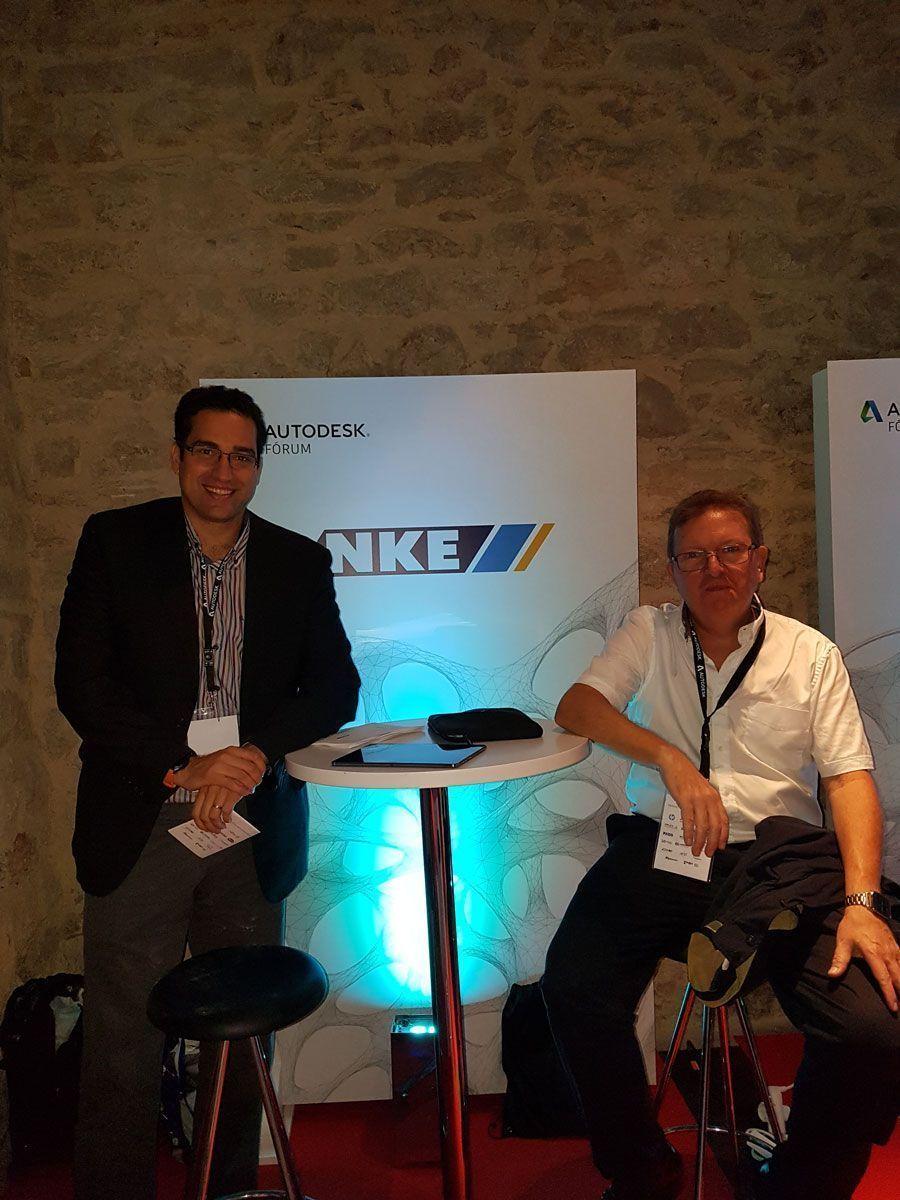 Miguel Gutiérrez, Consultor Senior AEC-BIM de NKE, y Joan de Haro, Executive Sales de NKE, en Autodesk Fórum 2017.