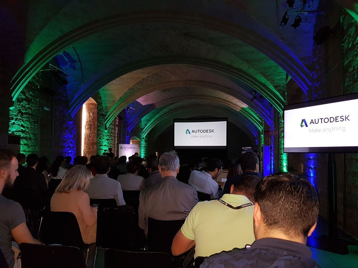 Momentos previos a a primera ponencia en Autodesk Fórum 2017