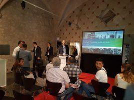 Momentos previos a la intervención de Renzo Rainoldi, Country Manager de NKE, en Autodesk Fórum 2017