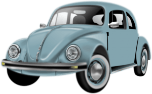 Diseño en 3D de un coche antiguo