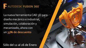 33% de descuento en Fusion 360   Del 12 al 26 de enero de 2021