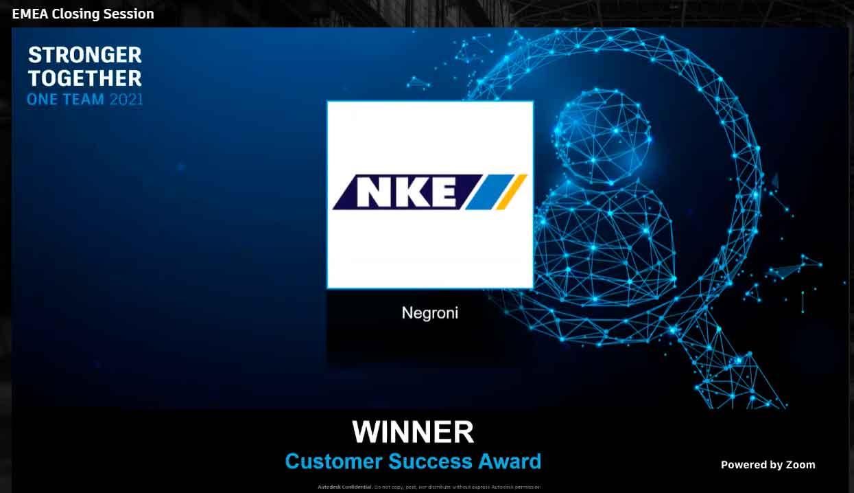 NKE recibe el Customer Success Award 🏅 por parte de Autodesk