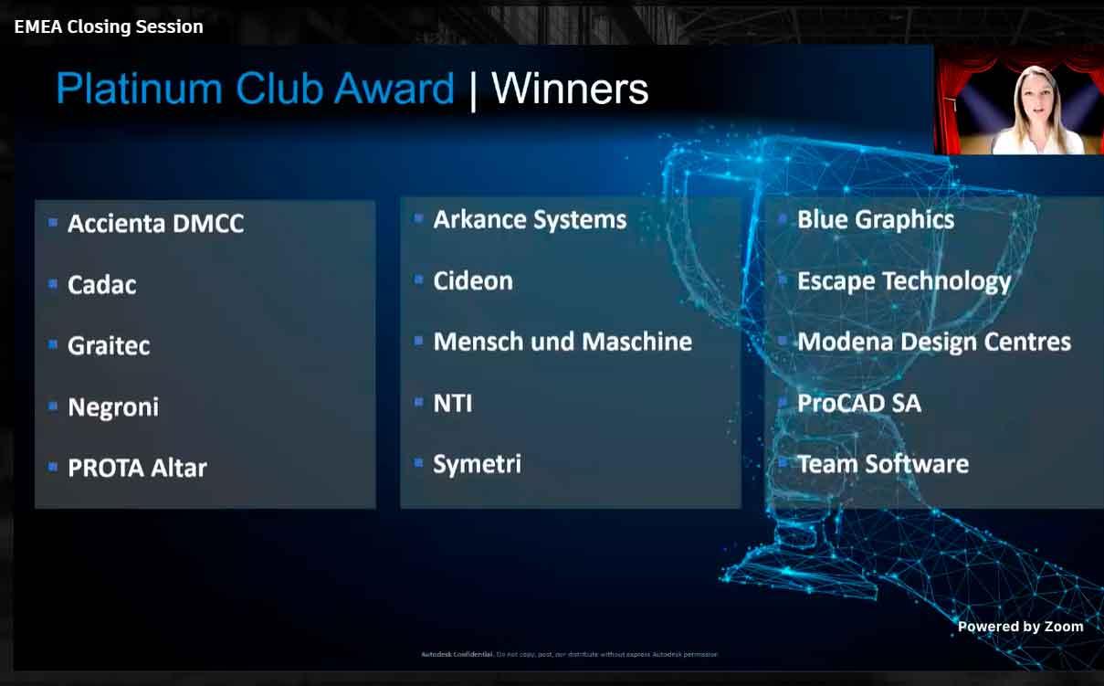 NKE recibe el Platinum Club Award 🏅 por parte de Autodesk